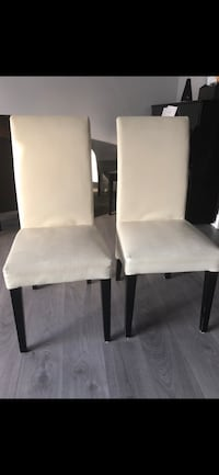 Two white leather dining chairs  Walnut Creek, 94597