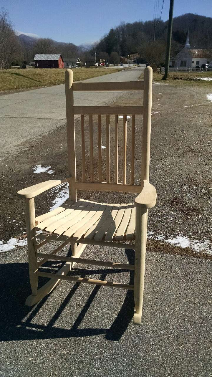 Handmade Unfinished Rocking Chair