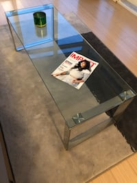 Long glass coffee table $260 Toronto, M5V