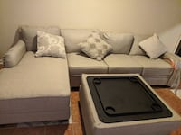 Luxora sectional, reversible ottoman with storage space