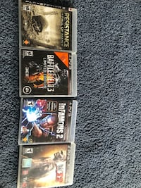 Four assorted-title ps3 cases 24 km