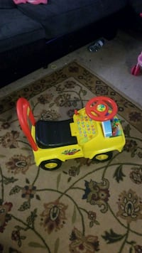 yellow, black, and red ride-on toy car Kitchener, N2M 2G7