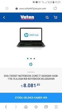 HP Laptopp Alaplı, 67850