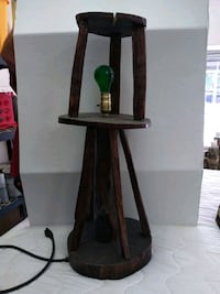 Rustic wooden lamp Valrico, 33594
