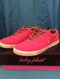 Pair of pink baby phat low top sneakers Hampstead, H3X 2E8