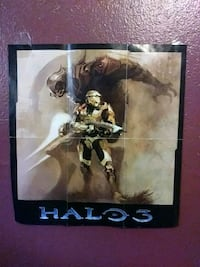 Halo 3 poster and manual Xbox360 East Palo Alto, 94303