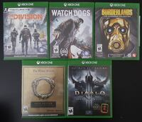 Lot Of 5 Xbox One Games Burnaby