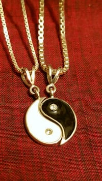 Yin Yang Silver Necklace  Lexington