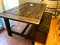 Handmade wooden Dining table & Bench Maple Grove