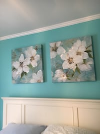 """Beautiful and bright Art.  Canvas wrapped around hardwood.  Paid 100$ ,  A touch of class """" store. Parsippany, 07054"""