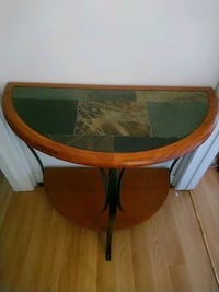 Hallway table with green marble top Brampton, L6V 3J7