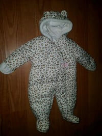 like new baby girl snowsuit 6 - 9 months