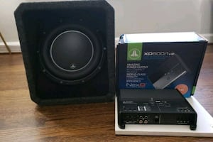 JL Audio 10in W6 Subwoofer and JL Audio Amplifier