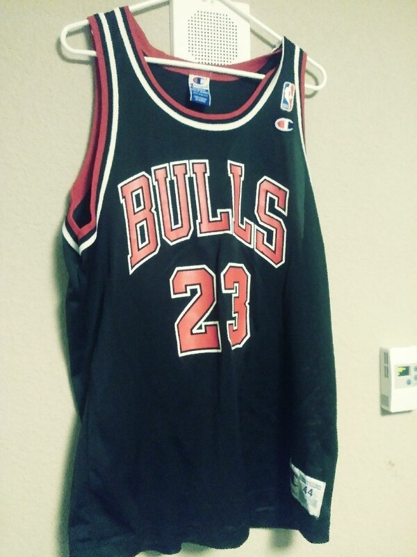 Used Michael Jordan Chicago Bulls Champion brand NBA jersey for ... bd02cb4ceab5