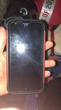 Black zte smartphone with black and red case Douglasville, 30135