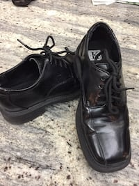 Boys soft black leather dress shoes are great for the holiday season Toronto, M6J 2S2