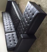 Brand New Black Futon Sectional Sofa Austin