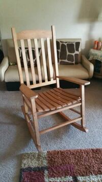 NEW brown wooden windsor rocking chair North Las Vegas, 89031