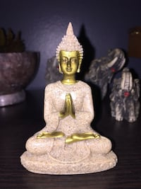 Hue Sandstone Meditation Buddha Statue Hand Carved (small)tiny please look at the measurements  Calgary, T3E 6L9