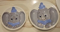 Large Elephant (Dumbo) Plate and Bowl. $5 Firm Calgary, T2V