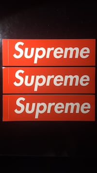 "Supreme Large Sticker 7.5"" x 2.25"" Centreville, 20121"