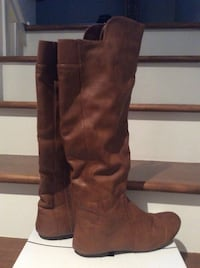 Brown leather boots size 8 Laval, H7X 3M8