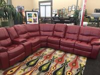 Red Reclining Sectional (NEW)  Norfolk, 23502