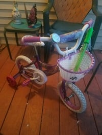 toddler's purple and white bicycle with training w South Plainfield, 07080