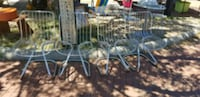 Set of 4 Italian Mid Century Metal Wire Chairs Kensington, 20895