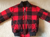 black and red zip-up jacket Edmonton, T6X 0A8