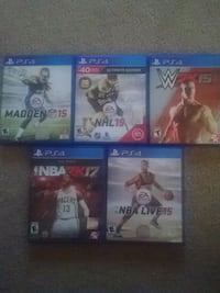 four assorted PS4 game cases Honey Creek, 51542