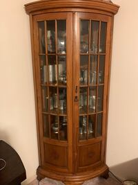 Two Teak China Cabinets Montclair