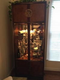 Brown wooden framed glass display cabinet Lorton, 22079