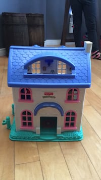 blue, white, and pink Fisher-Price Little house toy 776 km