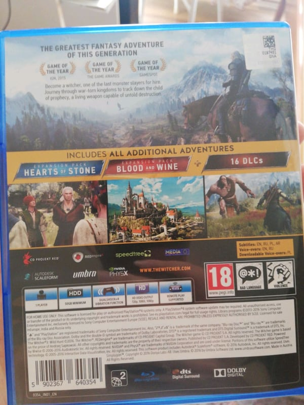 Witcher 3 Game of the year edition, PS4, Türkçe 218ee1e3-9076-4c21-8b6b-42920421cb55