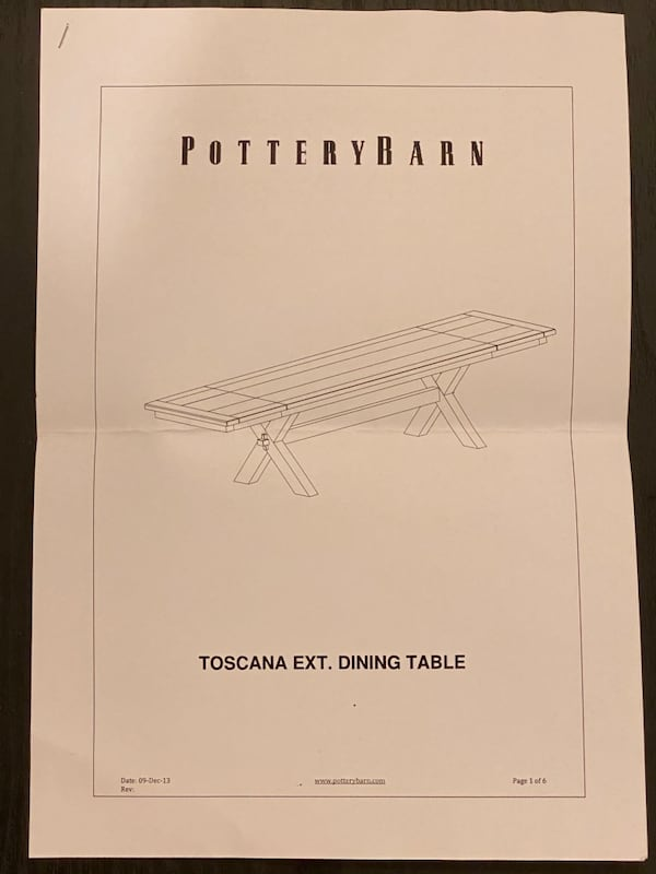 (OBO) Pottery Barn Dining Table +4 chairs +bench-(All) real solid wood b237be70-a666-4dab-b87a-425e145963f0