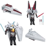 Star Wars Transformers Class III DARTH VADER TO STAR DESTROYER | EUC, SFPF home Ajax, L1T 0A9