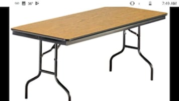 Heavy duty folding tables. Great condition.