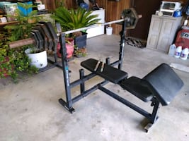 Olimpic set of weights and bench