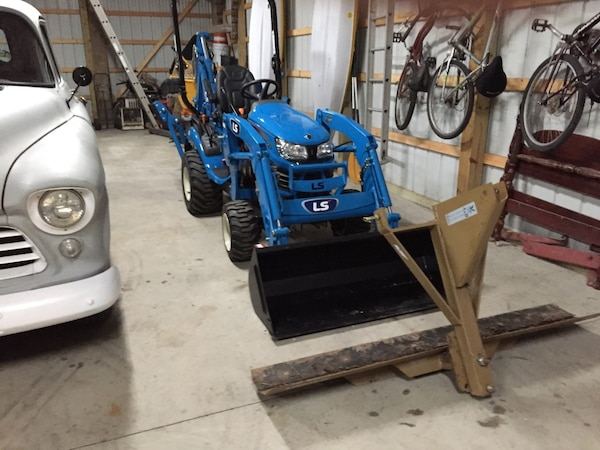 Offering small tractor services