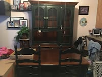 Dining room table w/extension, 4 matching chairs, beautiful hutch Palo Alto, 94304