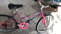 Purple and red bmx bike 582 mi