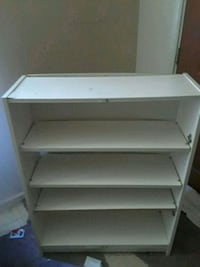 white wooden 3-layer shelf Indianapolis, 46222