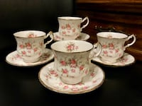 "Vintage Paragon "" Victorian rose "" bone china tea cups and saucers Vancouver, V5R 6C5"