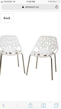 4 Baxton Studio Birch Sapling White Plastic Accent/Dining Chairs London, N5V 4W4