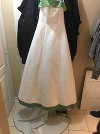 Brand New White and Green Wedding Dress Pickering, L1X 2P2