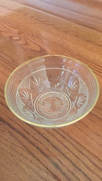 Gold rimmed crystal or glass Candy dish Brookeville, 20833