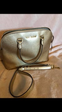 brown Michael Kors leather 2-way handbag Langley, V3A