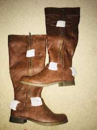 brown leather knee high boots Portsmouth, 23704
