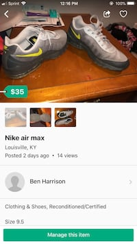 pair of brown leather shoes screenshot Louisville, 40272